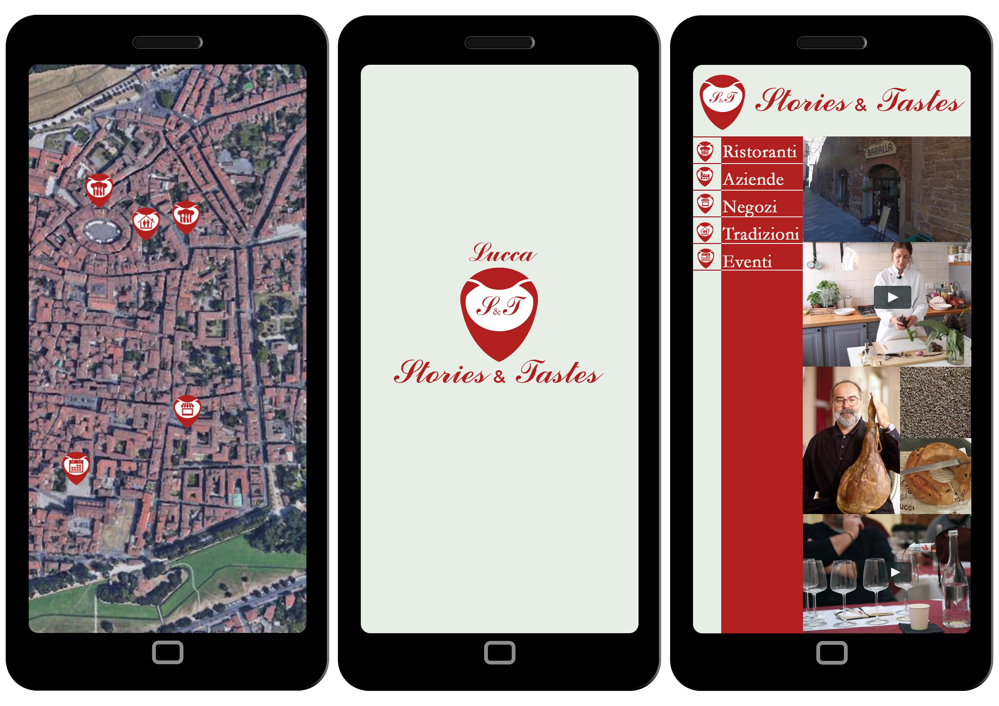 Locandina Lucca: stories&tastes. Web app